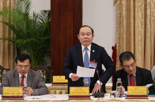 Ông Nguyễn Ngọc Bảo, Chủ tịch Liên minh HTX Việt Nam phát biểu. (Ảnh: Thống Nhất/TTXVN).