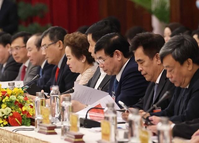 """Các đại biểu dự cuộc """"Đối thoại 2045."""" (Ảnh: Thống Nhất/TTXVN)."""