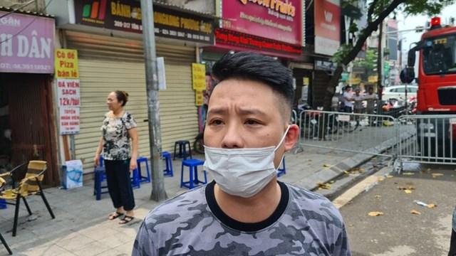 Anh Nguyễn Minh Quang, cháu ruột nạn nhân Thi. Ảnh: Nguyễn Định.