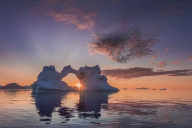 Khung cảnh hoànghôn tuyệt đẹp tại Greenland.