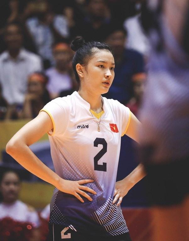 Kim Thanh cũng góp mặt trong đội tuyển bóng chuyền nữ Việt Nam giành huy chương bạc SEA Games 2019.
