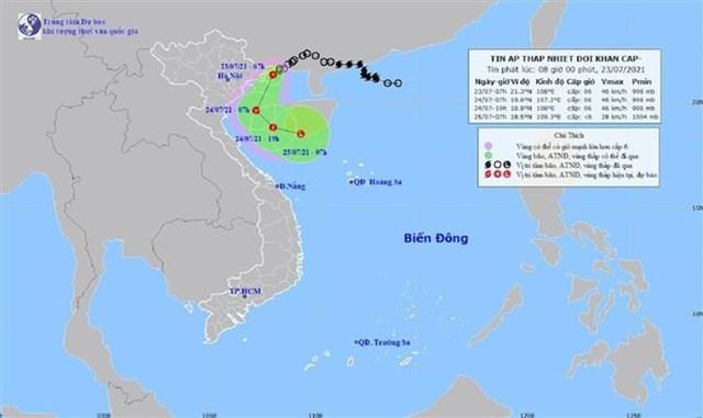 Nguồn:Trung tâm Dự báo Khí tượng Thủy văn Quốc gia.