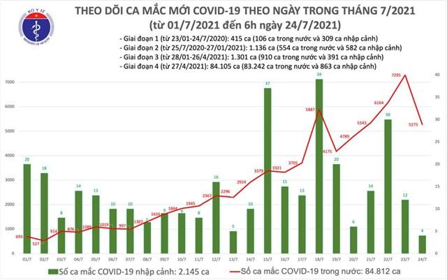 Sáng 24/7: Có 3.991 ca mắc Covid-19, riêng TP Hồ Chí Minh có 2.070 ca - Ảnh 1