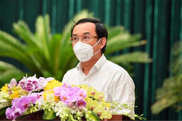 Bí thư Thành ủy TP HCM Nguyễn Văn Nên phát biểu tại hội nghị.