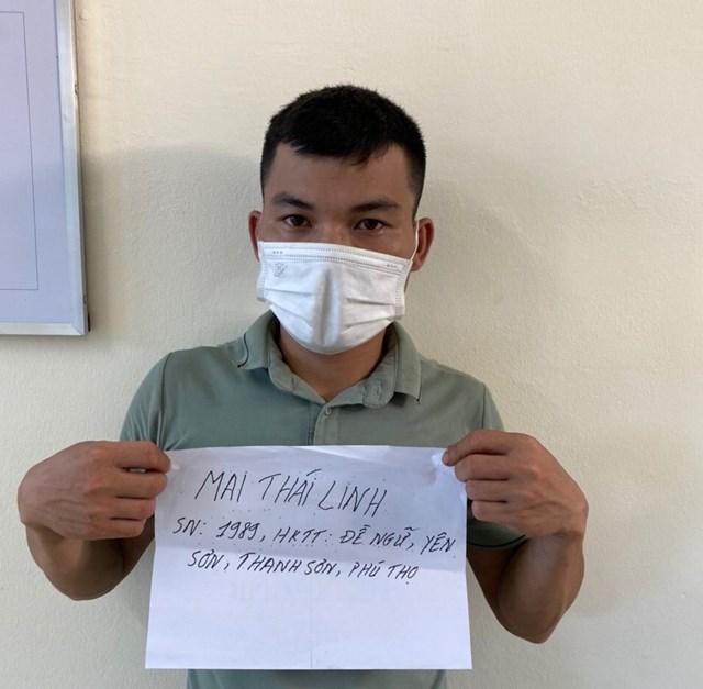 Công an phường Phương Nam đã kịp thời bắt giữ trường hợp vi phạm. Ảnh: Công an Quảng Ninh.