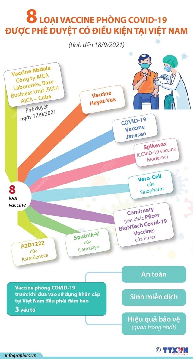 8 loại vaccine phòng Covid-19 được phê duyệt có điều kiện tại Việt Nam - Ảnh 1