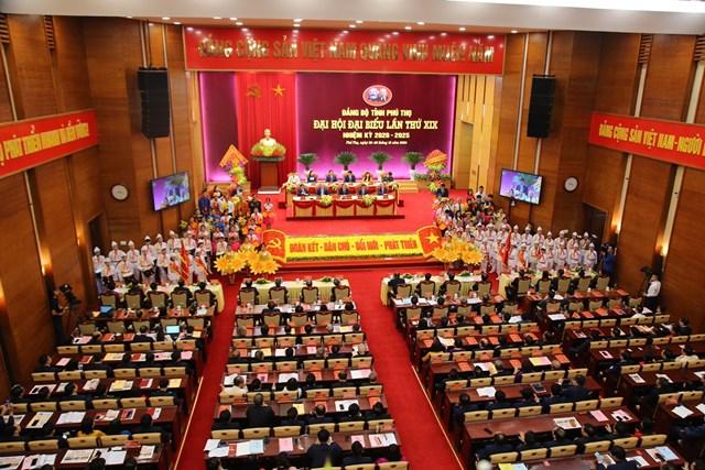 Đại hội Đảng bộ tỉnh Phú Thọ lần thứ XIX khai mạc sáng nay (27/10).