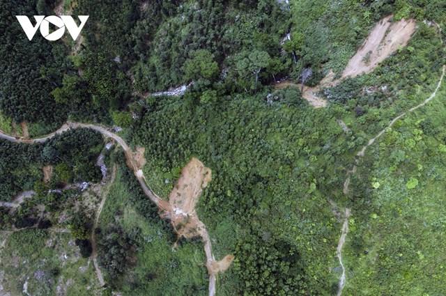 Trượt sạt núi có thể sẽ gây mất an toàn trong những đợt mưa tiếp theo.
