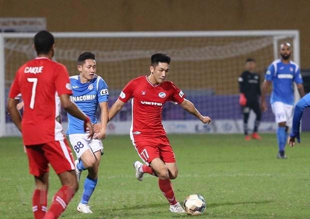 Viettel đang chạm một tay vào chức vô địch V-League 2020. (Ảnh: Hiển Nguyễn/Vietnam+).