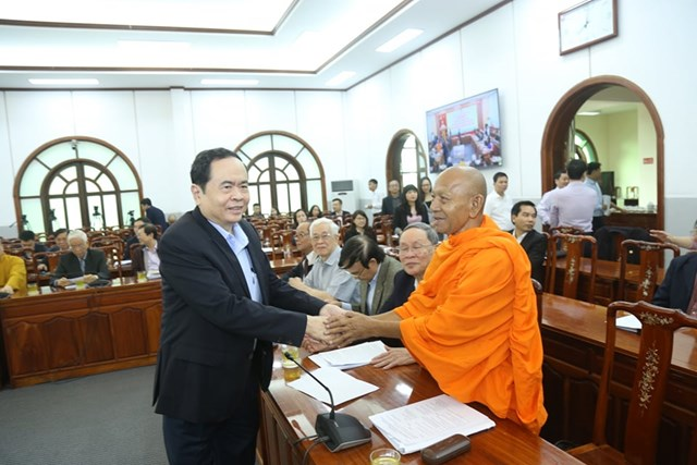 Đoàn Chủ tịch UBTƯ MTTQ Việt Nam góp ý vào các dự thảo Văn kiện Đại hội Đảng XIII - Ảnh 1
