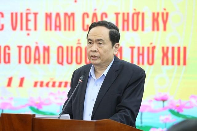 Chủ tịch Trần Thanh Mẫn phát biểu khai mạc Hội nghị.