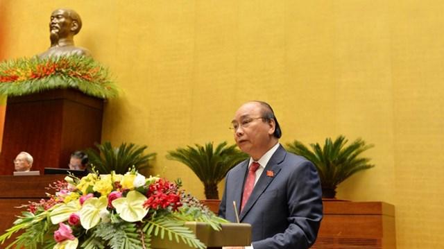 Thủ tướng Nguyễn Xuân Phúc sẽ thay mặt Chính phủ phát biểu giải trình, làm rõ thêm một số nội dung thuộc trách nhiệm chung của Chính phủ. Ảnh: VOV.