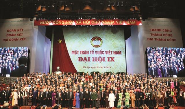 Ra mắt Ủy viên UBTƯ MTTQ Việt Nam tại Đại hội đại biểu toàn quốc MTTQ Việt Nam lần thứ IX, tháng 9/2019. Ảnh: Quang Vinh.