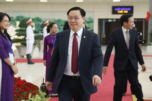 Bí thư Thành ủy Hà Nội Vương Đình Huệ tới dự Lễ kỷ niệm.