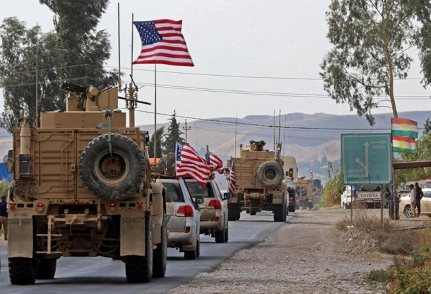 Mỹ rút một phần binh sỹ khỏi Syria hồi tháng 10/2019. (Ảnh: AFP).