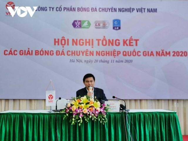 Ông Trần Anh Tú khẳng định V-League sẽ ưu tiên sử dụng các trọng tài nội trong tương lai.