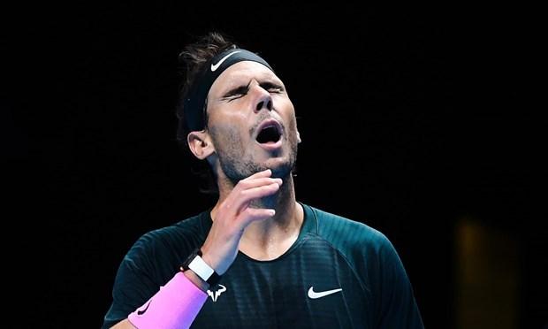 Nadal thua ngược và bị loại khỏi ATP Finals 2020. (Nguồn: Getty Images).