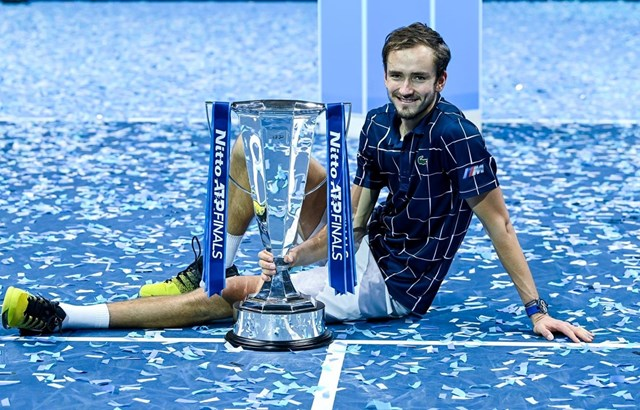 Daniil Medvedev vô địch ATP Finals 2020. (Nguồn: Getty Images).