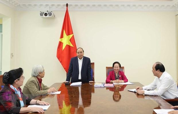 Thủ tướng Nguyễn Xuân Phúc phát biểu tại buổi làm việc. (Ảnh: Thống Nhất/TTXVN).