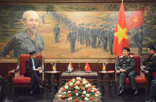 Chủ nhiệm Tổng cục Chính trị QĐND Việt Nam tiếp Đại sứ Ấn Độ - Ảnh 1