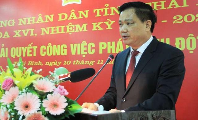 Ông Nguyễn Khắc Thận, Chủ tịch UBND tỉnh Thái Bình.Ảnh: Dân trí.
