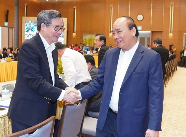 Thủ tướng Nguyễn Xuân Phúc tới dự Hội nghị. Ảnh: VGP/Quang Hiếu.
