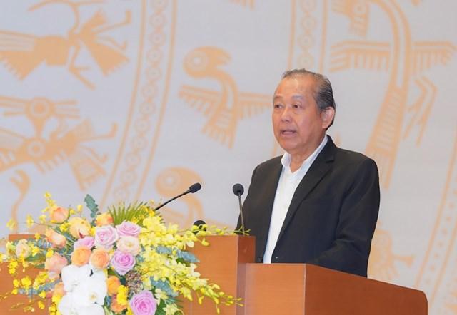 Phó Thủ tướng Thường trực Chính phủ Trương Hòa Bình phát biểu khai mạc. Ảnh: VGP/Quang Hiếu.