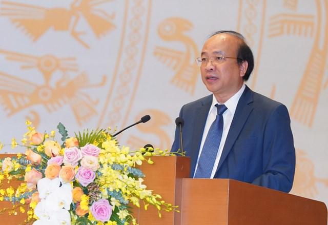 Thứ trưởng Bộ Tư pháp Phan Chí Hiếu phát biểu tại Hội nghị. Ảnh: VGP/Quang Hiếu.