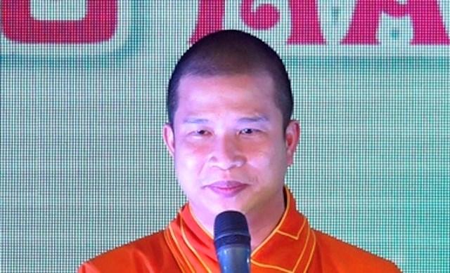 Phạm Văn Cung thời điểm còn là tu sĩ: (Ảnh: Cổng thông tin Giáo hội Phật giáo Việt Nam).