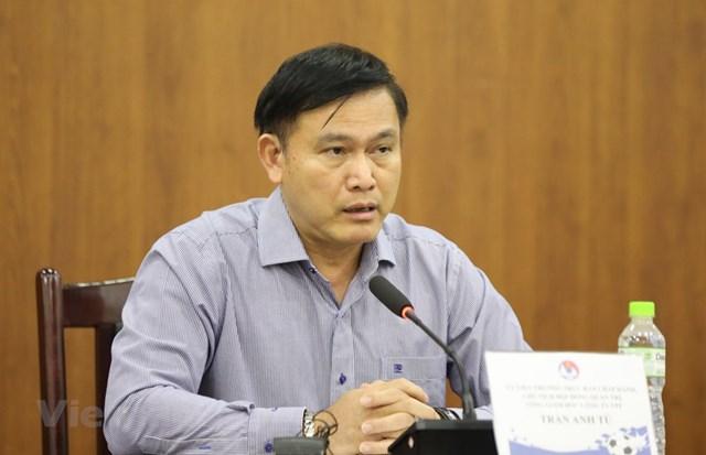 Ông Trần Anh Tú tái đắc cử vị trí Chủ tịch Hội đồng quản trị VPF nhiệm kỳ 2020-2023. (Ảnh: Hiển Nguyễn/Vietnam+).
