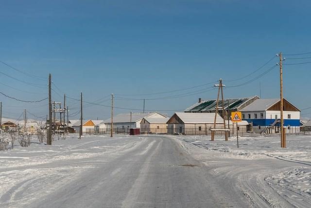 Oymyakon, một trong những khu vực có người sinh sống lạnh nhất trên thế giới. Ảnh:Wikimedia Commons.