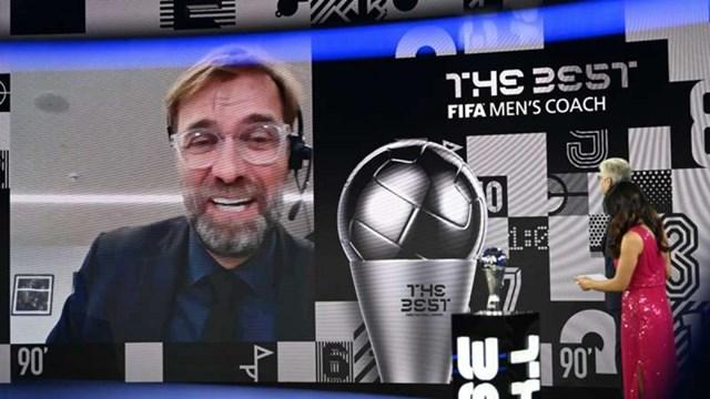HLV Klopp năm thứ 2 liên tiếp được vinh danh ởFIFA The Best (Ảnh: Getty).