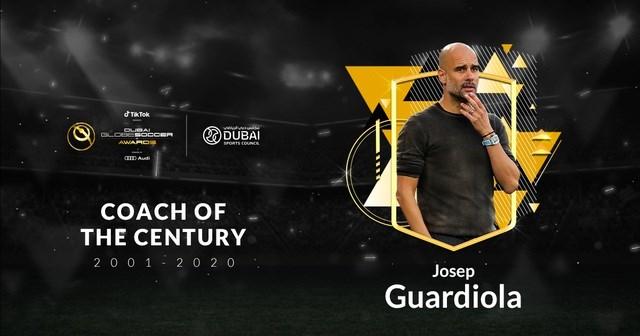 HLV Pep Guardiola vượt qua Zidane và Sir Alex Ferguson nhận giải HLV xuất sắc nhất thế kỷ.