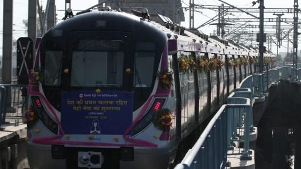 Tuyến tàu điện ngầm không người lái đầu tiên của Ấn Độ. (Nguồn: theprint.in).