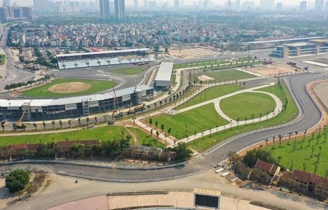 Khu vực đường đua F1 tại Hà Nội trước khi bị dỡ bỏ. (Nguồn: VGPC).