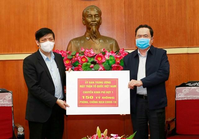 UBTƯ MTTQ Việt Nam phân bổ 150 tỷ đồng cho Bộ Y tế - 1