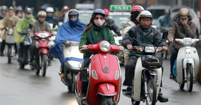 Không khí lạnh tăng cường, Hà Nội có mưa, trời rét 13 độ C