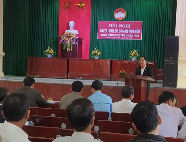 Nam Định sơ kết mô hình điểm 'Khu dân cư bảo đảm trật tự ATGT'