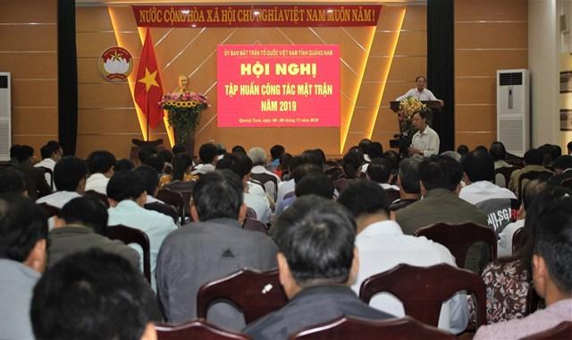 Quảng Nam: Tập huấn công tác Mặt trận năm 2019