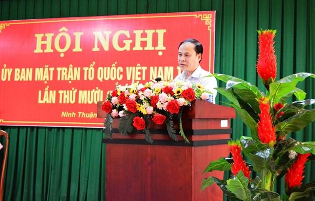 Ninh Thuận sơ kết công tác Mặt trận 6 tháng đầu năm