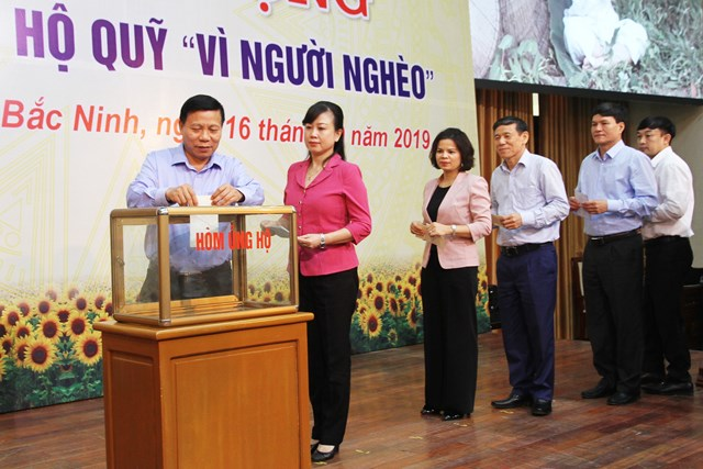 Bắc Ninh: Phát động ủng hộ Quỹ 'Vì người nghèo' năm 2019