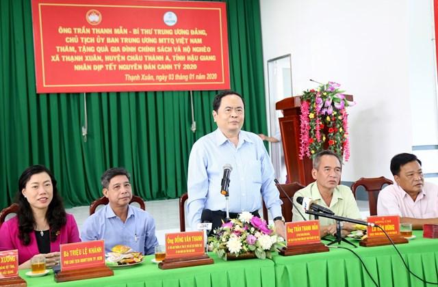 BẢN TIN MẶT TRẬN: Chủ tịch Trần Thanh Mẫn thăm, tặng quà trẻ em mồ côi, gia đình chính sách tỉnh Hậu Giang