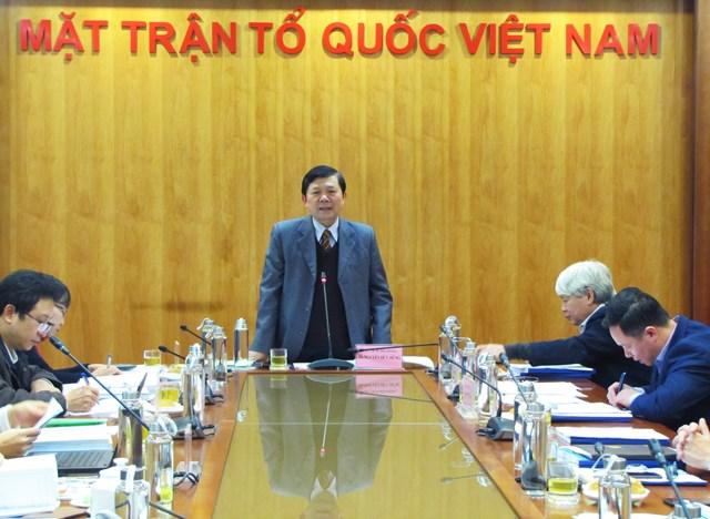 Nghiệm thu đề tài khoa học 'Nâng cao chất lượng hoạt động của UBTƯ MTTQ Việt Nam trong xây dựng pháp luật'