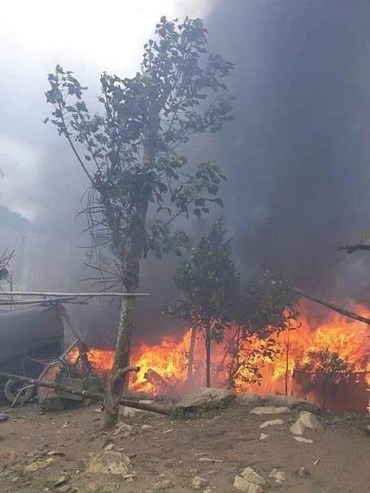 Quảng Nam: Cháy nhà sàn gây thiệt hơn 200 triệu đồng - 1