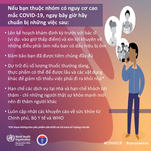[Infographic] Những việc cần làm ngay nếu bạn thuộc nhóm nguy cơ cao mắc Covid-19 - 1