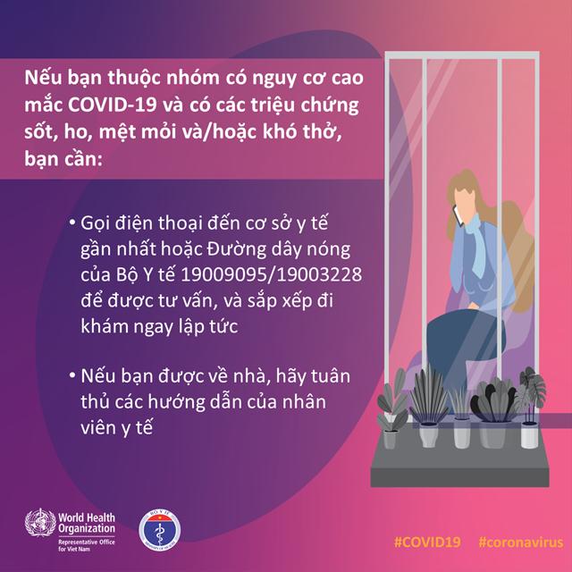 [Infographic] Những việc cần làm ngay nếu bạn thuộc nhóm nguy cơ cao mắc Covid-19 - 3