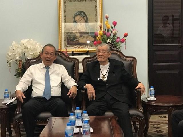 Phó Thủ tướng Thường trực Trương Hòa Bình thăm và chúc mừng Giáng sinh 2019 tại TP HCM