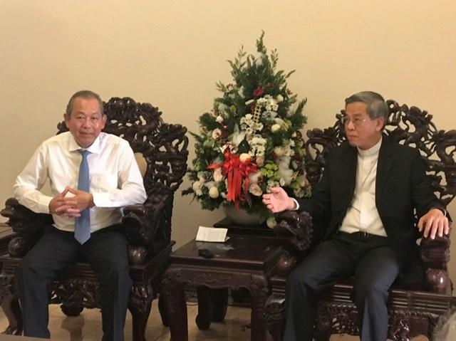 Phó Thủ tướng Thường trực Trương Hòa Bình thăm và chúc mừng Giáng sinh 2019 tại TP HCM - 2