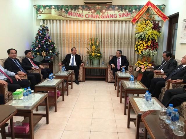 Phó Thủ tướng Thường trực Trương Hòa Bình thăm và chúc mừng Giáng sinh 2019 tại TP HCM - 1