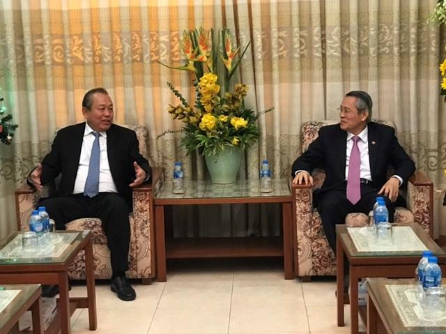 Phó Thủ tướng Thường trực Trương Hòa Bình thăm và chúc mừng Giáng sinh 2019 tại TP HCM - 3